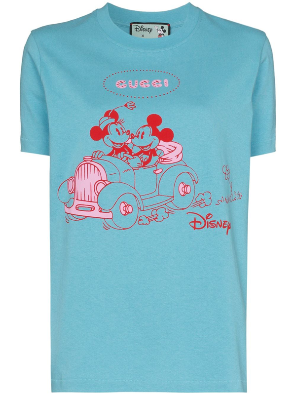 Gucci Blue Disney Edition Mickey Mouse T-shirt In Azure
