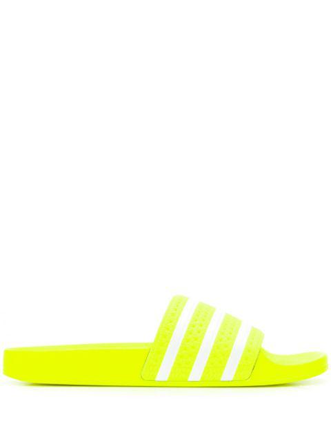 Adidas Originals Adidas Women's Originals Adilette Aqua Slide Sandals In Yellow