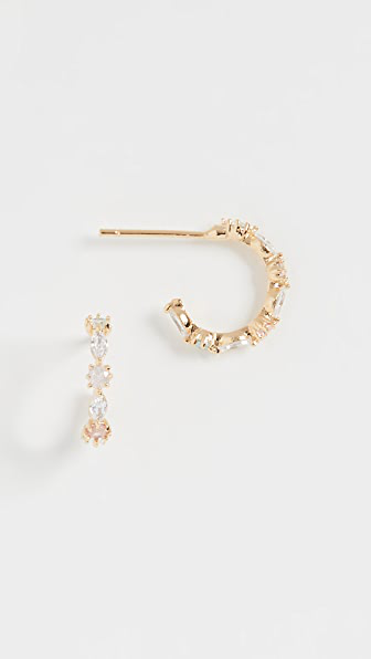 Theia Jewelry Aubrey Petite Hoop In Gold