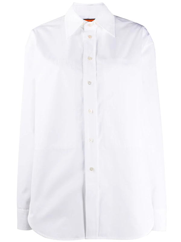 Colville Long Sleeve Boxy Fit Shirt In White