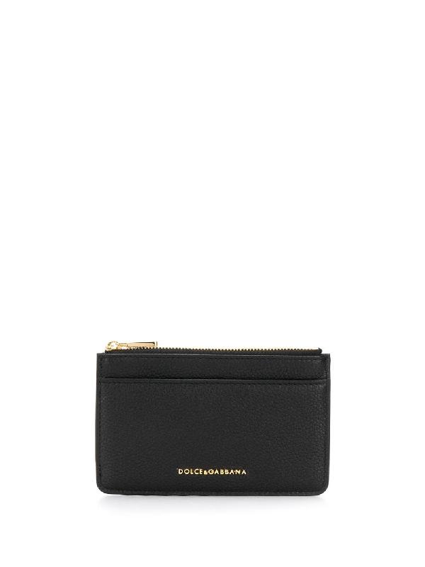 Dolce & Gabbana Logo Cardholder In Black