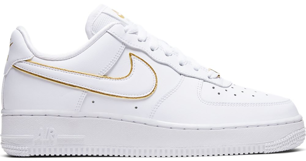 Pre-owned Nike Air Force 1 Low Icon Clash White Metallic Gold (w ...