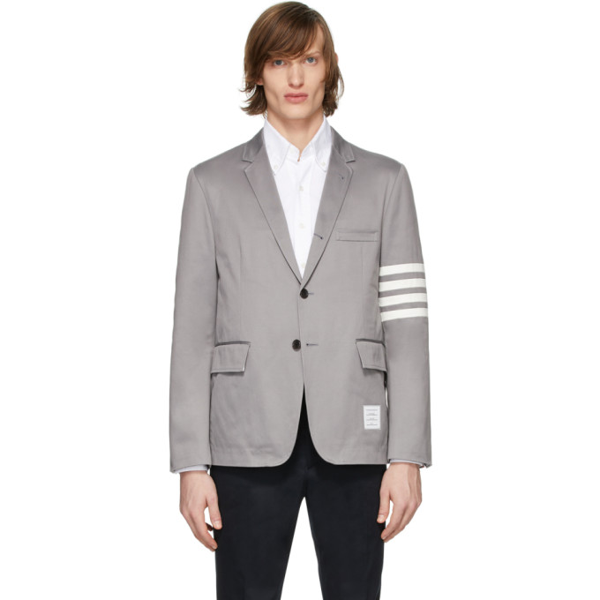 Thom Browne Cotton 4-bar Unconstructed Sport Coat In 035 Light G