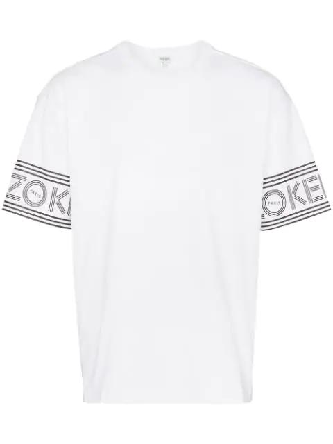 Kenzo Men's Short Sleeve T-shirt Crew Neckline Jumper In 01 White