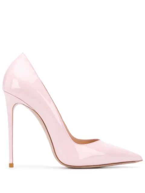 Le Silla Eva 120 Pumps In Powder Patent Leather In Pink