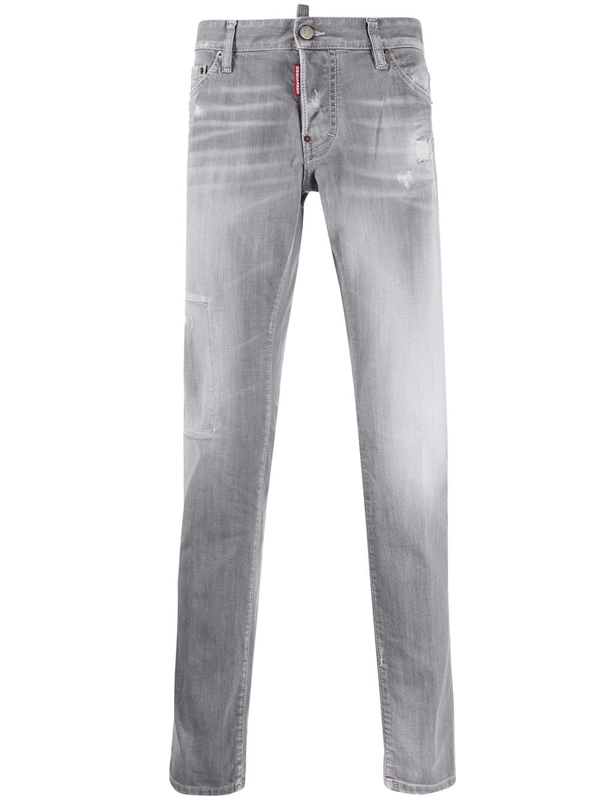 Dsquared2 Stonewashed Grey Cotton Jeans