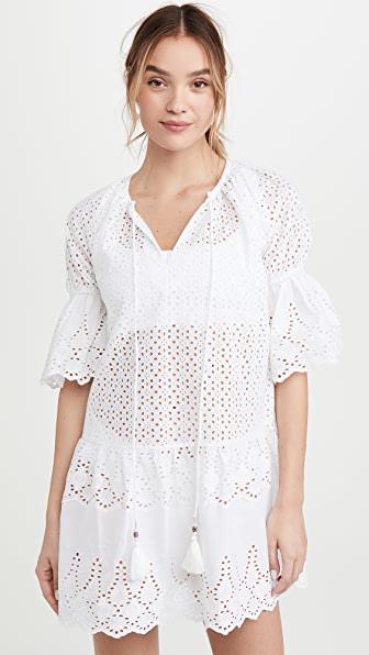 Playa Lucila Eyelet Dress In White