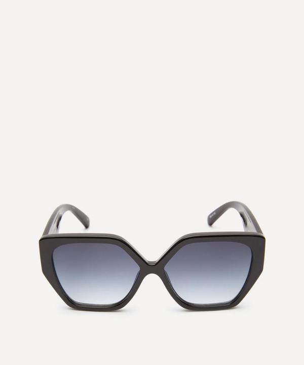 Le Specs So Fetch Hexagonal Acetate Sunglasses In Black/smoke