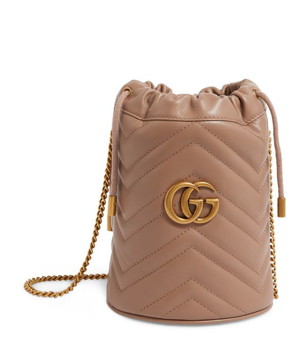 Gucci Mini Leather Marmont Bucket Bag