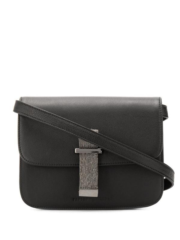 Fabiana Filippi Beaded-strap Cross-body Bag In Black