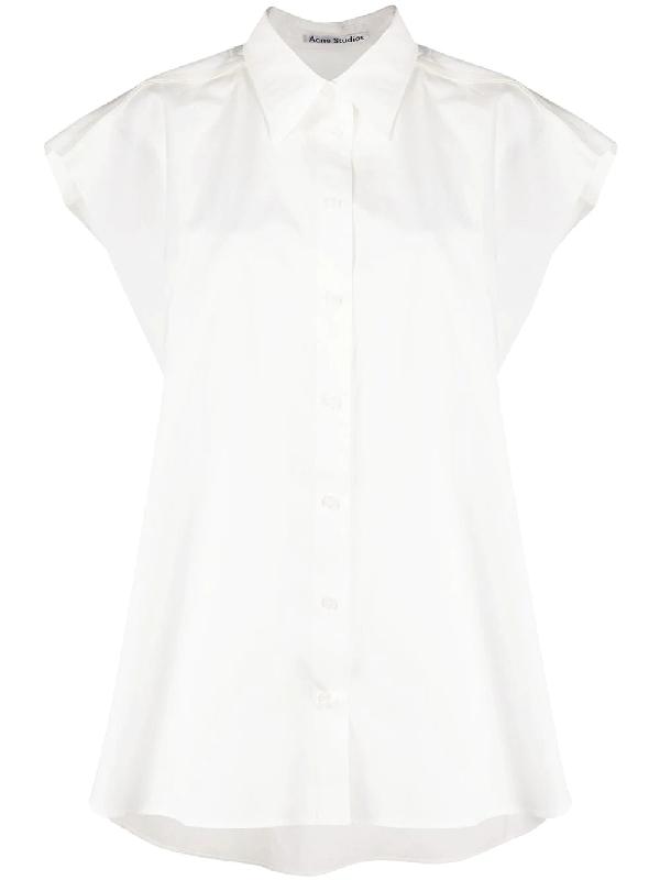 Acne Studios Oversized Cotton-poplin Shirt White