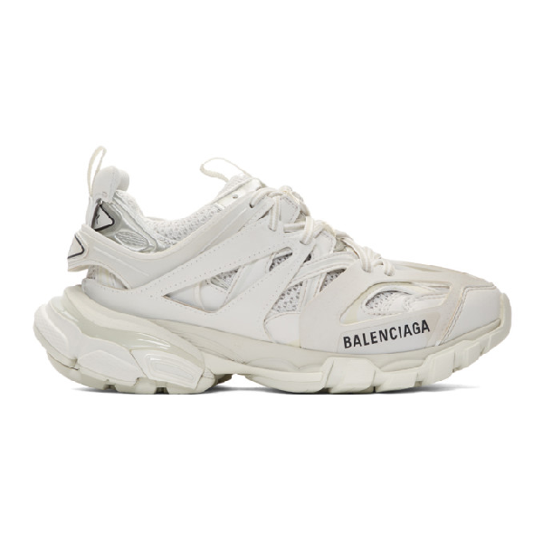 Balenciaga Track Logo-detailed Mesh And Rubber Sneakers In 9000 White