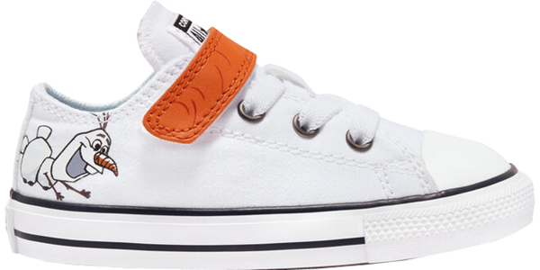 Pre-owned Converse  Chuck Taylor All-star Low Frozen 2 Olaf (td) In White/illusion Blue