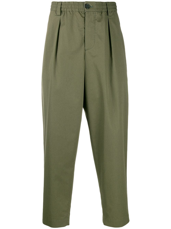 Marni Straight Leg Trousers In Green