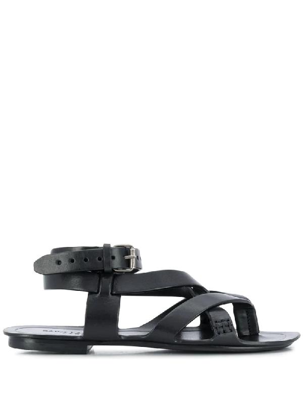 Saint Laurent Women's Culver 05 Buck Strappy Sandals In Black