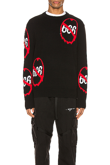 Who Decides War By Mrdrbrvdo Anti 666 Knit Pullover