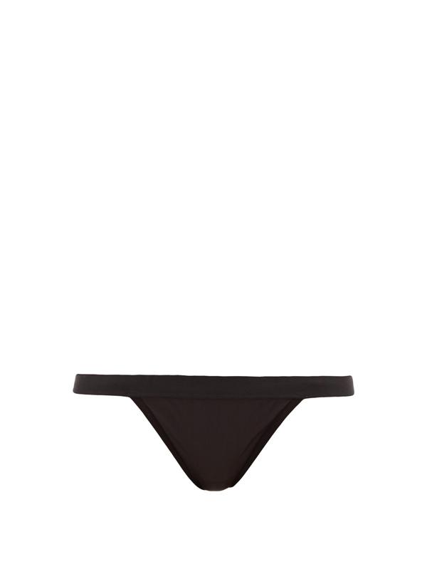 Negative Underwear Silky Semi-sheer Thong In Black