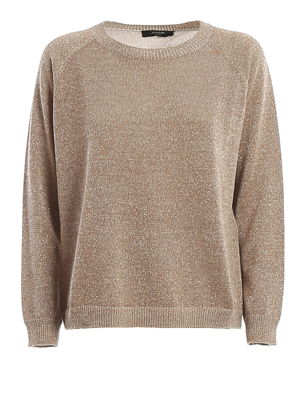 Weekend Max Mara Garonna Lurex Sweater In Gold