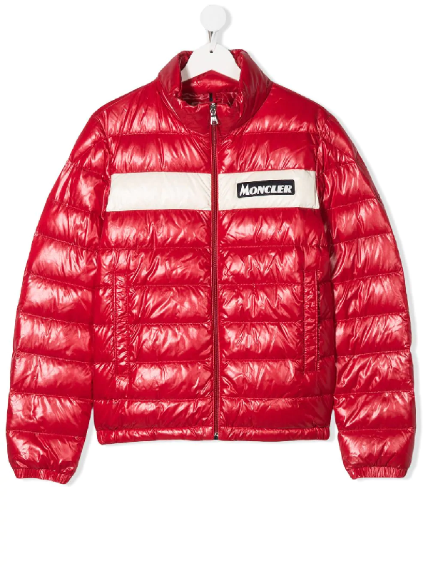 Moncler Kids' Petichet Padded Puffer Jacket In Red