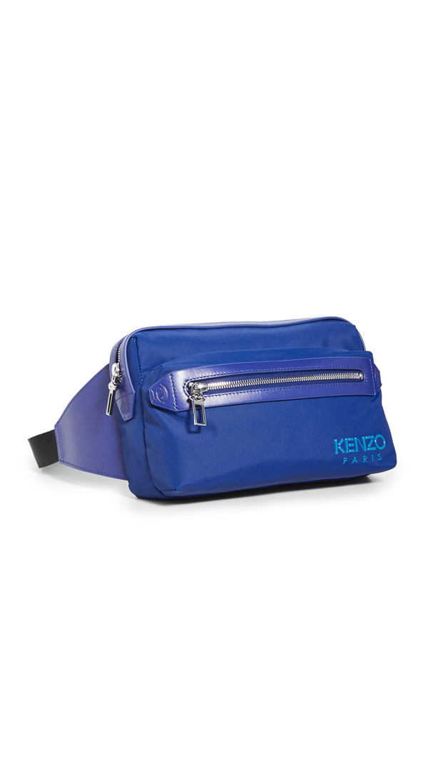 Kenzo Nylon Belt Bag In Navy Blue