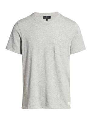 7 For All Mankind Men's Boxer Pocket T-shirt In Heather Grey