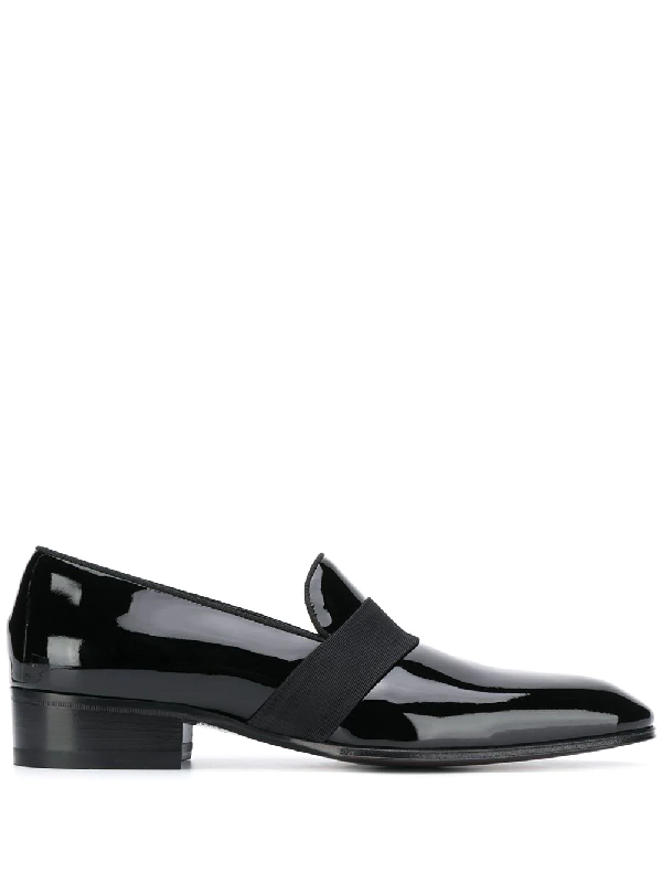Tom Ford Edgar Patent Leather Evening Loafer In Black