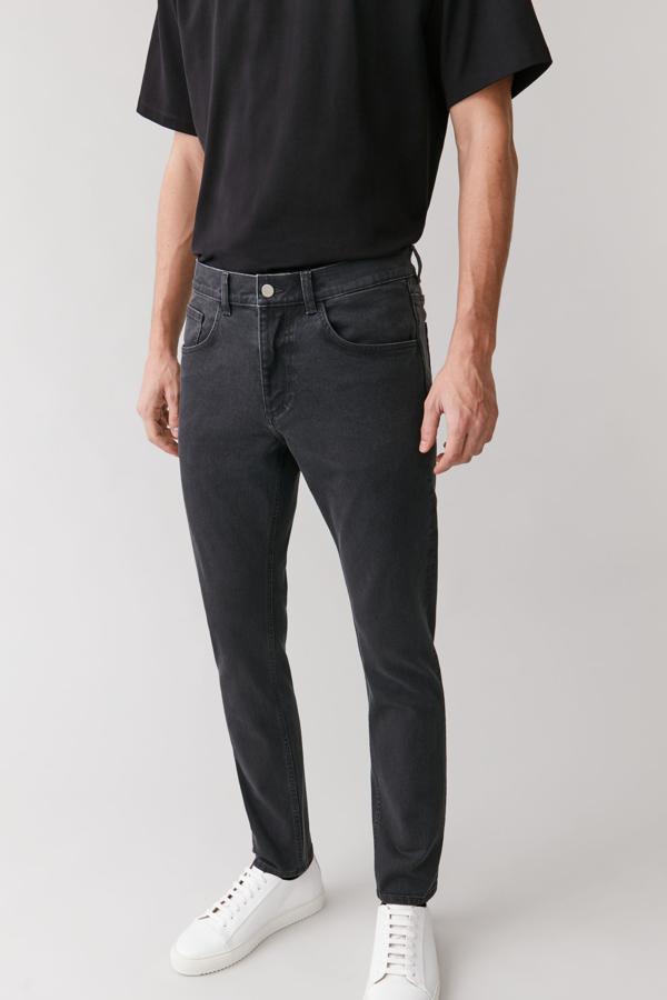 Cos Slim-leg Jeans In Grey