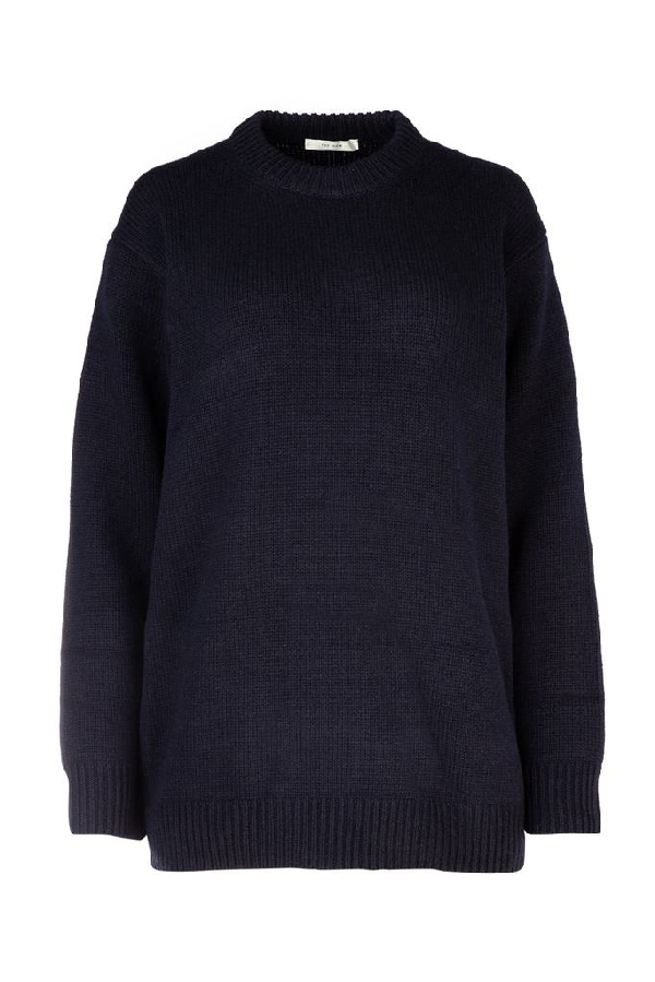 The Row Oversized Sweater In Navy