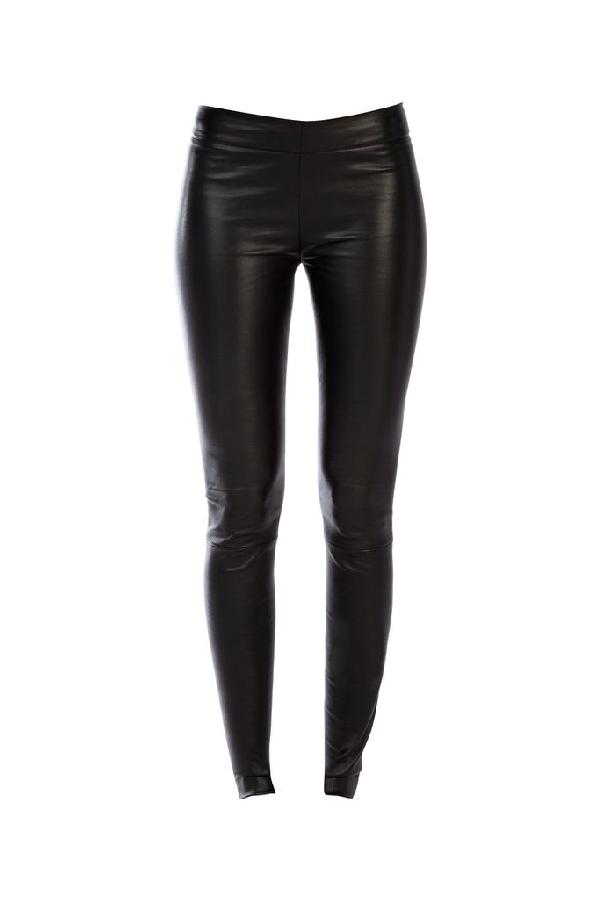 The Row Skinny Fit Leggings In Black