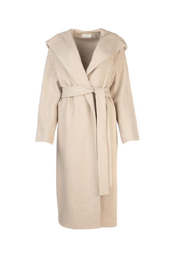 The Row Belted Coat In Beige