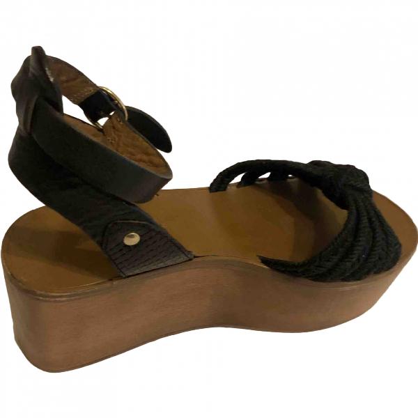 Isabel Marant Étoile Black Leather Sandals