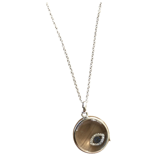 Loquet White Gold Long Necklace