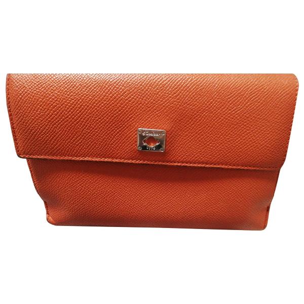 Pineider Orange Leather Wallet