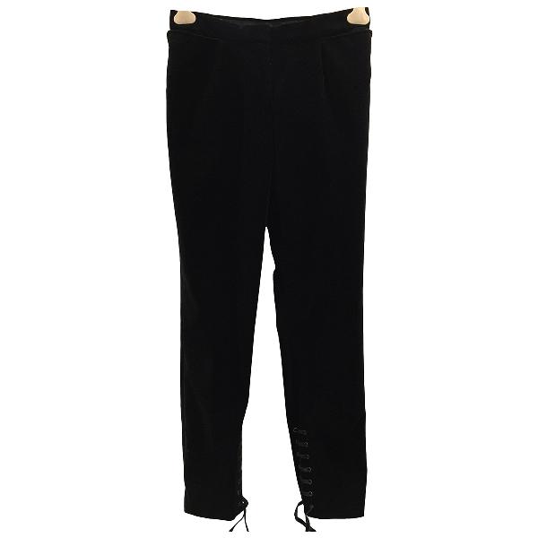 Saint Laurent Black Velvet Trousers