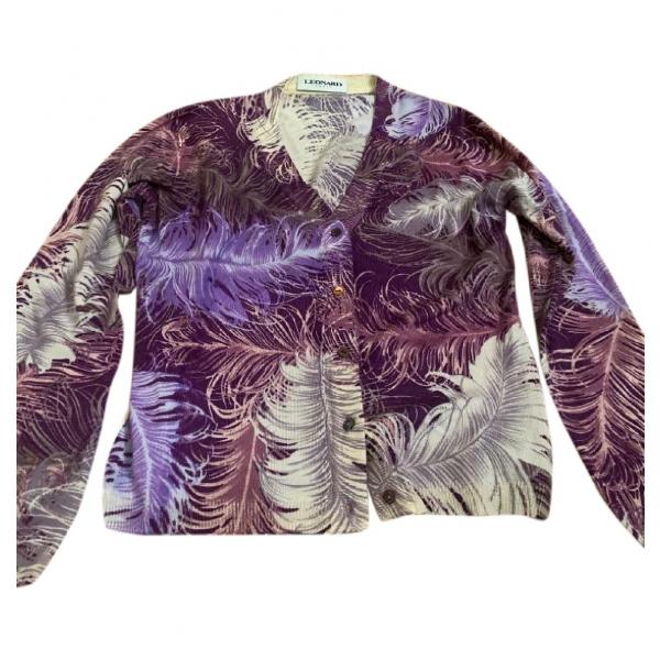 Leonard Purple Wool Knitwear