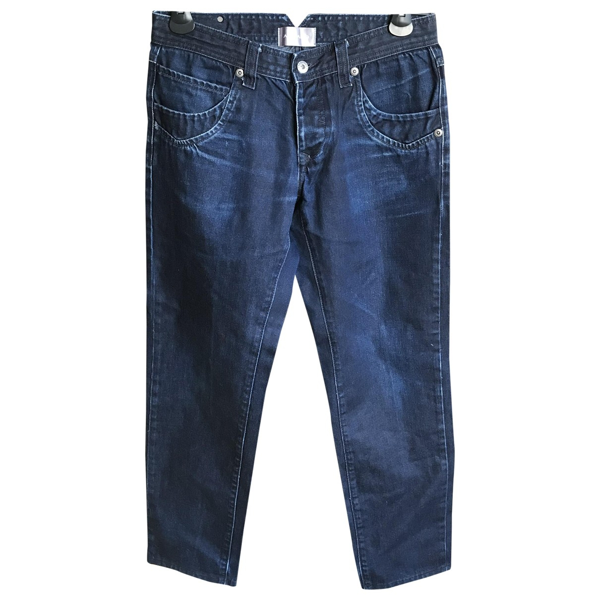 Pre-owned Azzaro Blue Cotton Jeans
