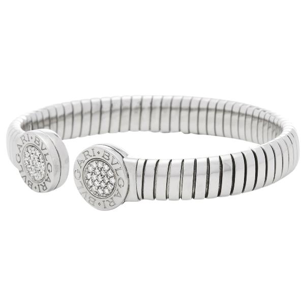 Bulgari Tubogas White Steel Bracelet