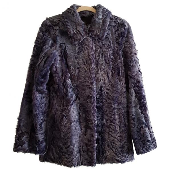 Pre-owned Hockley Blue Mongolian Lamb Jacket