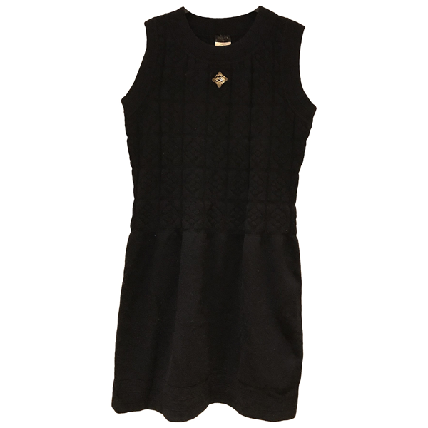Pre-owned Chanel Navy Wool Dress