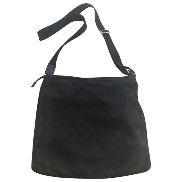Pre-owned Gucci Black Cloth Bag