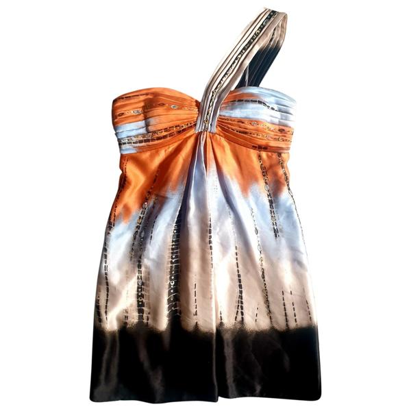 Pre-owned Bcbg Max Azria Multicolour Silk Dress