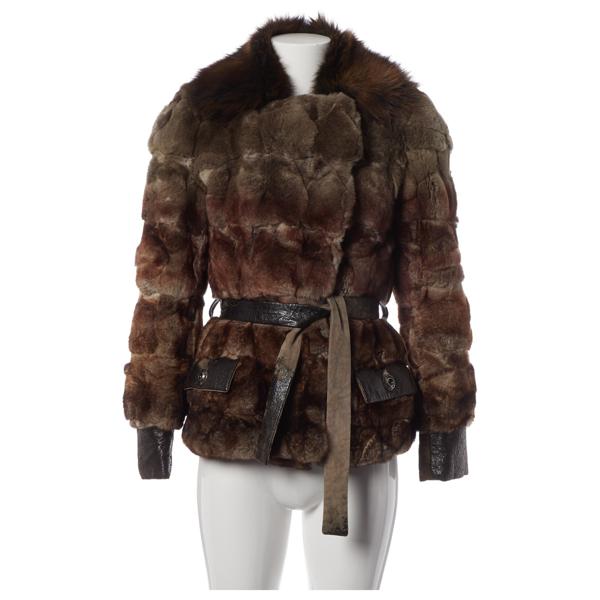Pre-owned Dior Brown Fox Coat