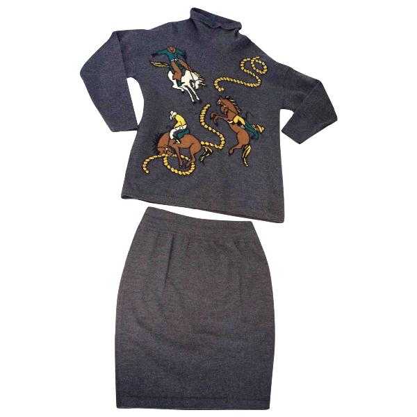 Pre-owned Escada Grey Wool Knitwear