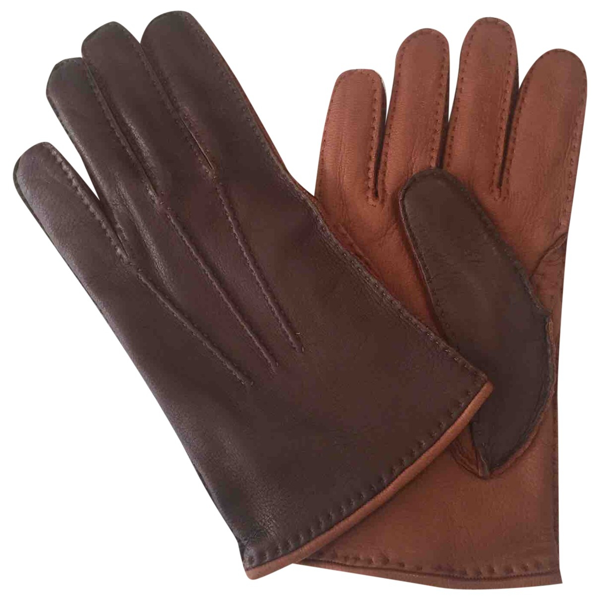 Pre-owned Larusmiani Brown Leather Gloves
