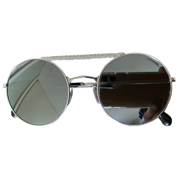 Pre-owned Chanel Black Metal Sunglasses