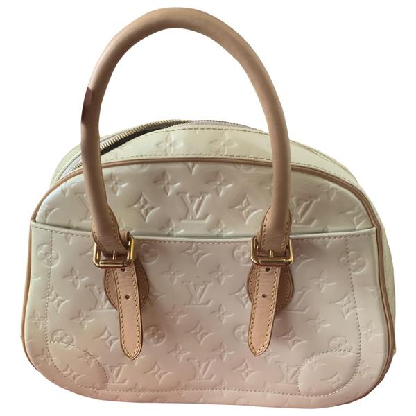 Pre-owned Louis Vuitton Beige Patent Leather Handbag