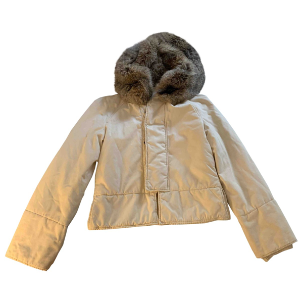 Pre-owned Gucci Beige Leather Jacket