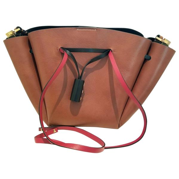 Pre-owned Valentino Garavani Brown Leather Handbag