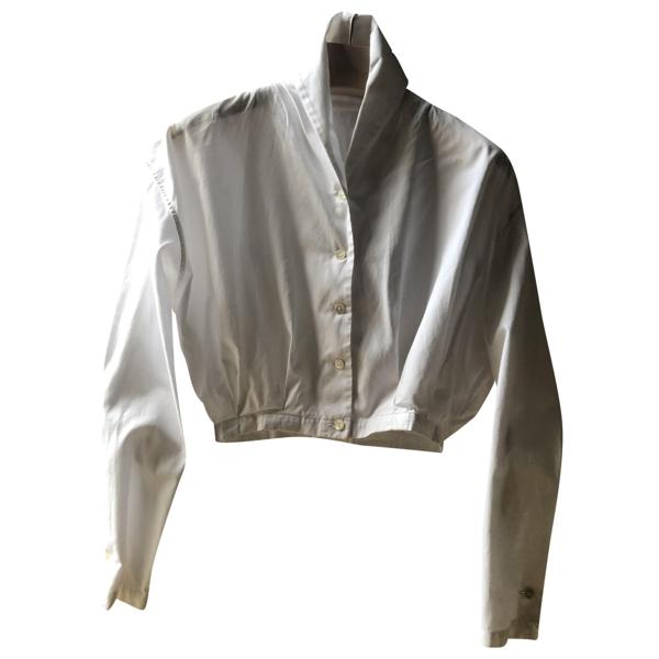 Pre-owned Romeo Gigli White Cotton  Top