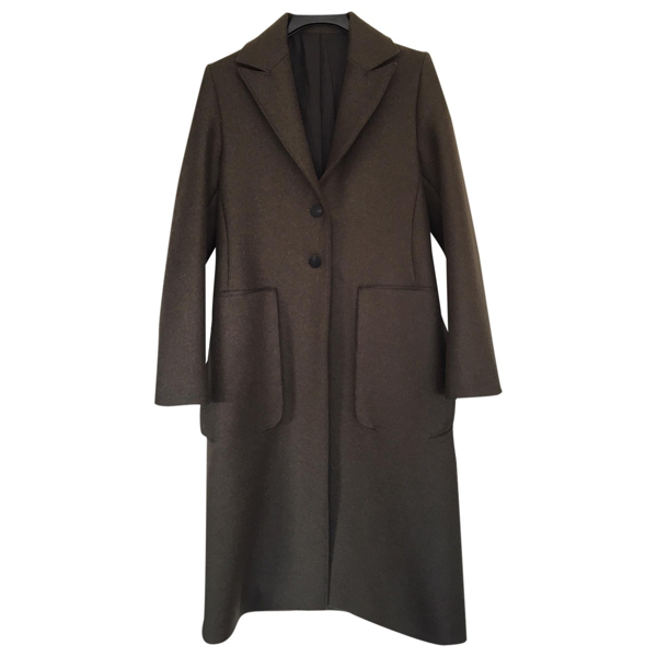 Pre-owned Studio Nicholson Green Wool Coat